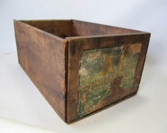 Popular items for wooden fruit crate on etsy for Wooden fruit crates