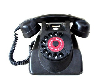 Rotary Dial Black Telephone Holland PTT