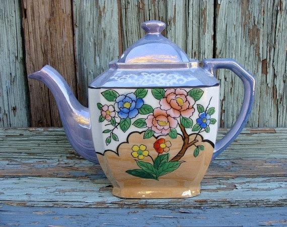Vintage Luster Ware Tea Pot Made In Japan