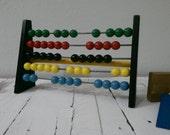 Brio Vintage Abacus Toy Wood Metal Colorful Black Base Kids Decor Math Learning Sweden