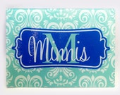 Items similar to personalized family name tempered glass cutting board monogrammed cutting - Tempered glass cutting board personalized ...