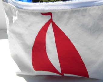 SAILBOAT Ditty Clutch Bag of Recycled sail