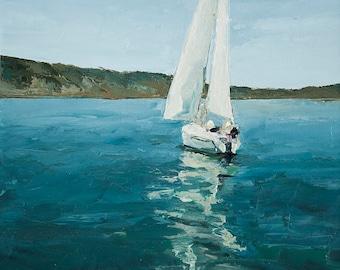 On The Lake-  print on cavas  8x10