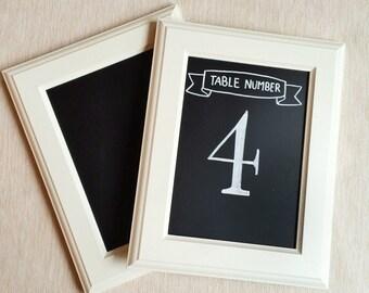 Table Top Chalkboard - White Frame