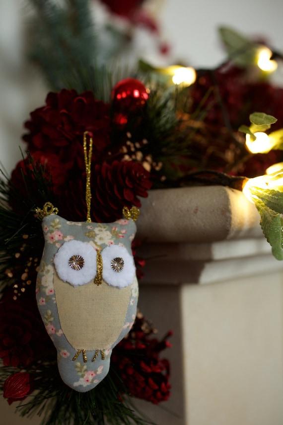 Christmas Tree Decoration Owl : Owl christmas decoration holidays tree key ring toys door