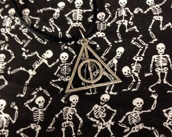 Harry Potter Deathly Hallows Symbol Adjustable Black Pendant