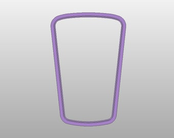 Drinking Glass Cookie Cutter - Various sizes