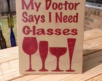 Wine Lover Sign Burgundy Tan Decor