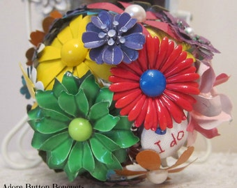 NEW EXCLUSIVE PRICE | Brooch Bouquet | Vintage Brooch Bouquet | Bright Wedding Bouquet