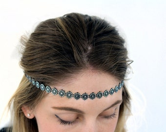 Black Cute Hair Bands, Boho Accessories Elastic Stretch Hair Band Headband