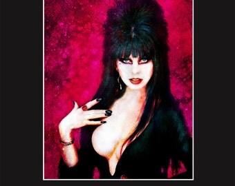 Elvira 11X14 Matted Print - Signed by Artist Joel Robinson