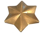 Vintage LARGE One of a kind Star Belt Buckle - SALE free shipping use code BELTUP
