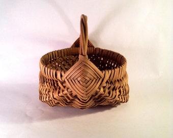Split Reed Gathering Basket