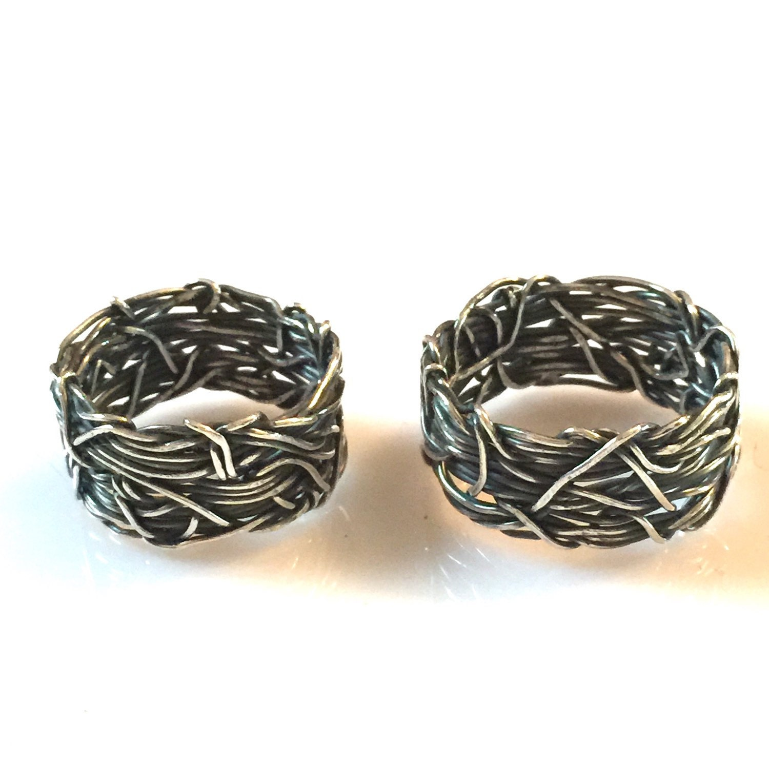 Crown of Thorns Christian Wedding Rings His and Hers