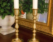 Vintage Brass Taper Candle Holders