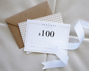 SHAZOEY Gift Card - Handmade Jewellery . Australian shop