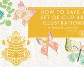 how to save a set of clip art illustrations in adobe illustrator