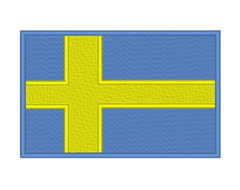 Sweden Flag Embroidery Design