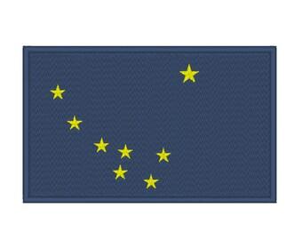 Alaska Flag Embroidery Machine Design