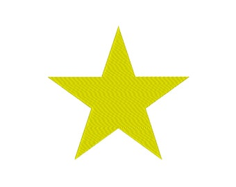 8 SIZES!!  Filled Star Shape Embroidery Machine Design