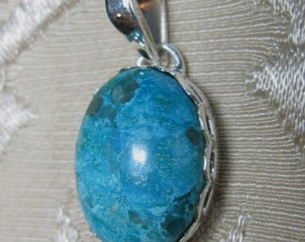 GET 15% OFF Natural Turquoise Teardrop Pendant