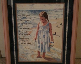 Wall Art - Treasures - Jeanne McNeill - Poem from Mother to Daughter