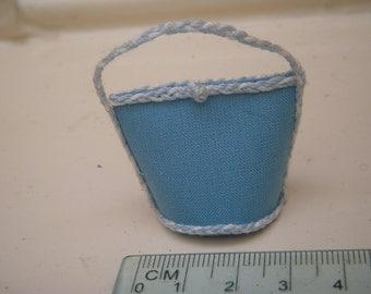 Miniature light blue bag 1/12th