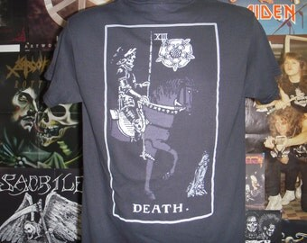 Death Tarot Card T-shirt (FREE SHIPPING in the Usa only) Witchy Magic Spritual Occult Satanism Aleister Crowley Anton Lavey Mystic Esoteric