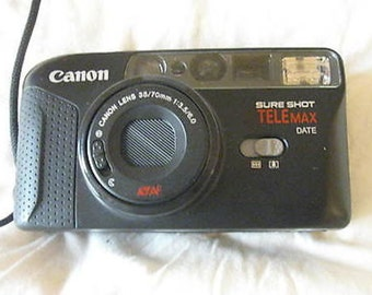 Canon Sure Shot TeleMax Point & Shoot Date Back Camera Tested C25-9