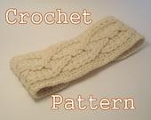 PDF Crochet Pattern - Alpine Cable Headband - Instant Download