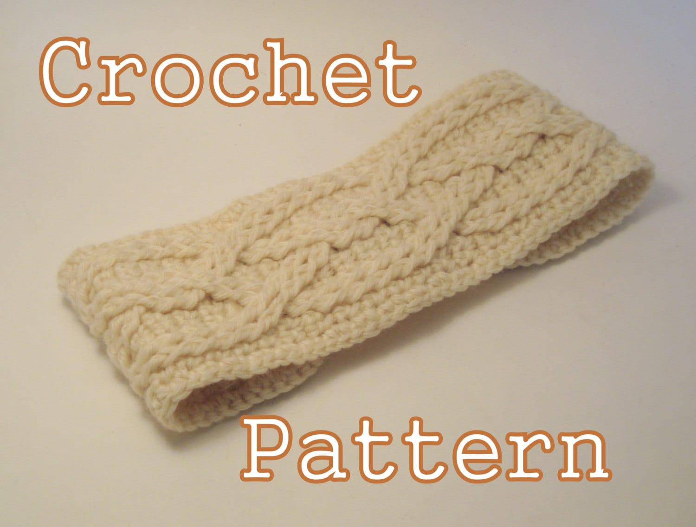Crochet Headband Pattern Cable : PDF Crochet Pattern Alpine Cable Headband Instant Download
