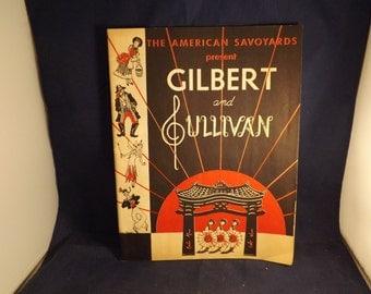 The American Savoyards Presents Gilbert and Sullivan Pirates of Penzance Program