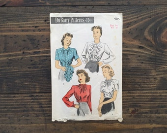 1940's DuBarry pattern 5995 • size 14 bust 32 • misses' blouse