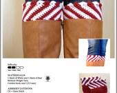 Crochet Pattern-Candy Cane Boot Cuffs