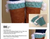 Crochet Pattern-Let it Snow Boot Cuffs