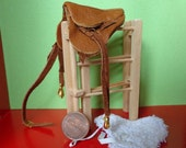 Dollhouse miniature English saddle PM 123