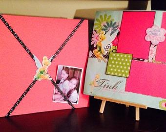 12x12 Tinker Bell Photo Album Scrapbook//think tink//disney albums//premade scrapbooks//girl birthday gift