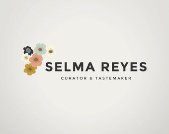 DIY Premade Logo Design | Custom Branding and Watermark | Instant Download | Editable Adobe Photoshop Logo Template | The Selma