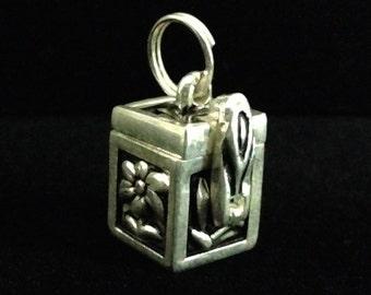 Silver Pewter Box Charm (ABx2A)