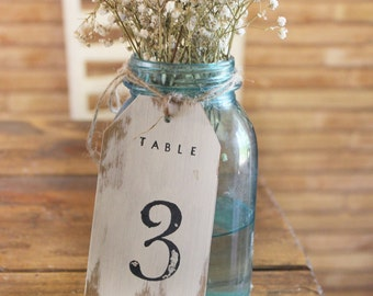 table numbers . rustic table numbers . ivory table numbers . shabby chic table numbers . table centerpiece