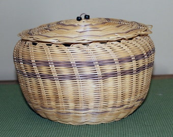 Basket with Lid by Mary Feather
