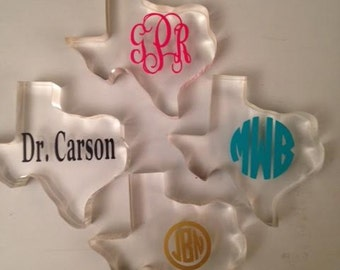 Texas paper weight monogrammed or personalized
