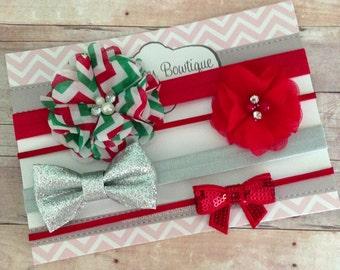 Christmas Headbands..Baby Gift Set..Newborn Headband.Baby Headbands..Baby Girl Headband..Infant Headband..Baby Headband..Headband