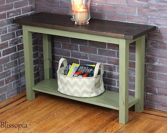 Delightful Rustic Console Table, Handmade Sofa Table, Media Console