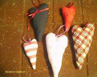 Loving Heart Pillow Ornaments Set 7