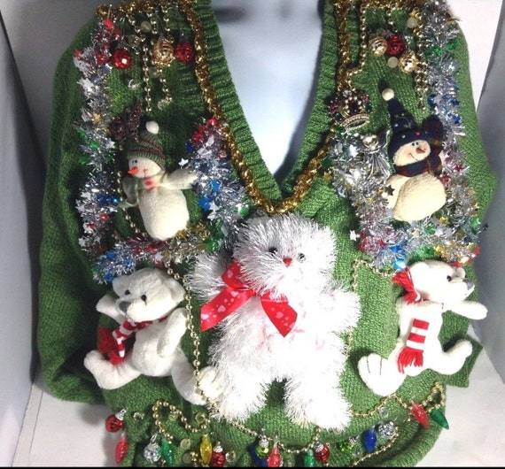 Ugly Christmas Contest Sweater for Christmas Sweater Party - Holiday Sweater - Funny Christmas Sweater - Merry Christmas