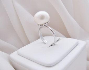 Huge Freshwater Pearl Ring