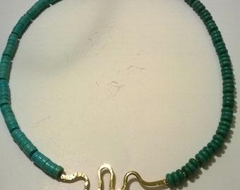 Equilibrium turquoise stone necklace.shipping free.