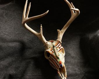 Carolina Whitetail Mosaic Deer Skull