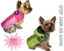 Winter Dog Jacket Pattern 1691 * Bundle 3 Sizes * Dog Clothes Sewing Pattern * Dog Coat Pattern * Dog Apparel * Designer Dog Clothes